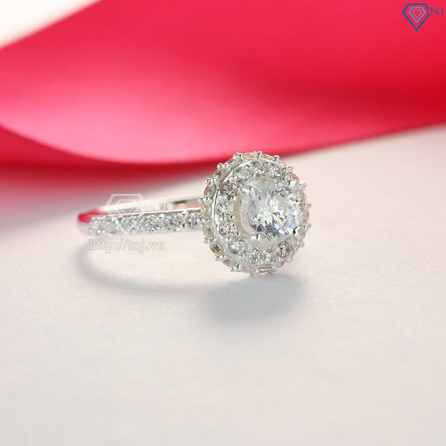 Nhẫn bạc nữ đẹp đính đá cao cấp NN0192