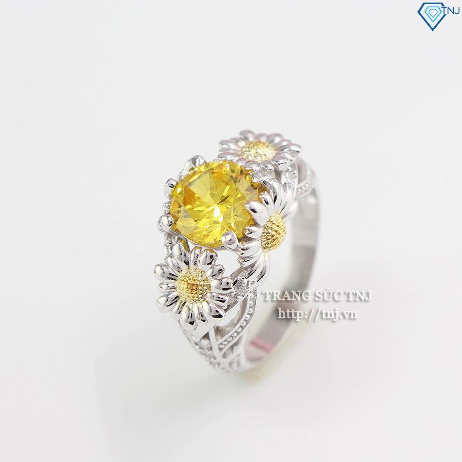 Nhẫn bạc nữ hình bông Hoa Hướng Dương đẹp NN0198