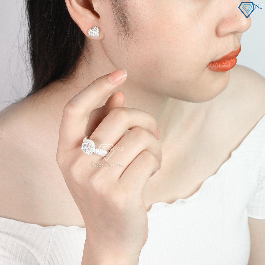 Nhẫn bạc nữ đẹp đính đá cao cấp NN0202