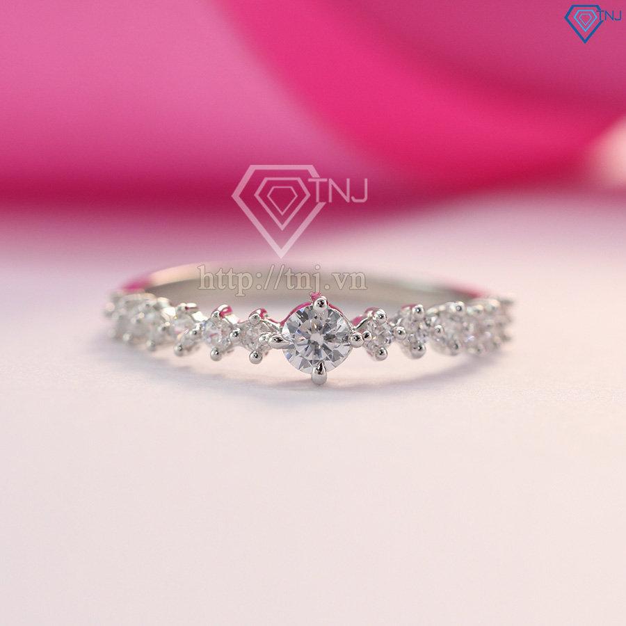 Nhẫn bạc nữ giá rẻ đính đá đẹp NN0213