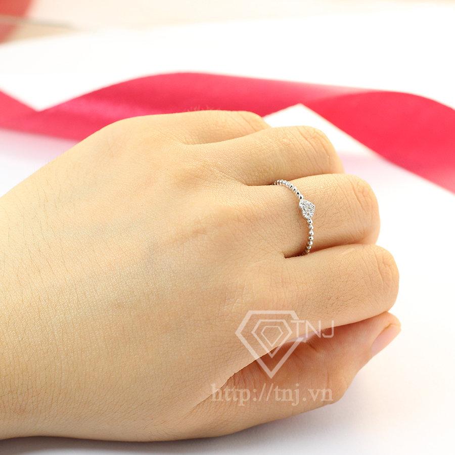 Nhẫn bạc nữ trái tim đẹp giá rẻ NN0216