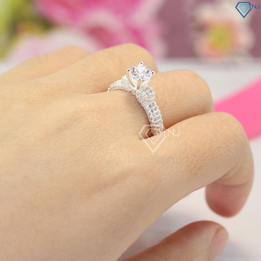 Nhẫn bạc nữ hà nội sang trọng NN0229