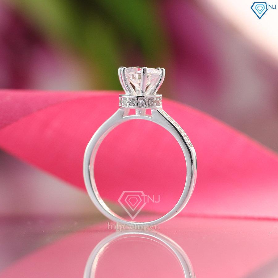 nhẫn nữ bạc đính đá cao cấp nn0240