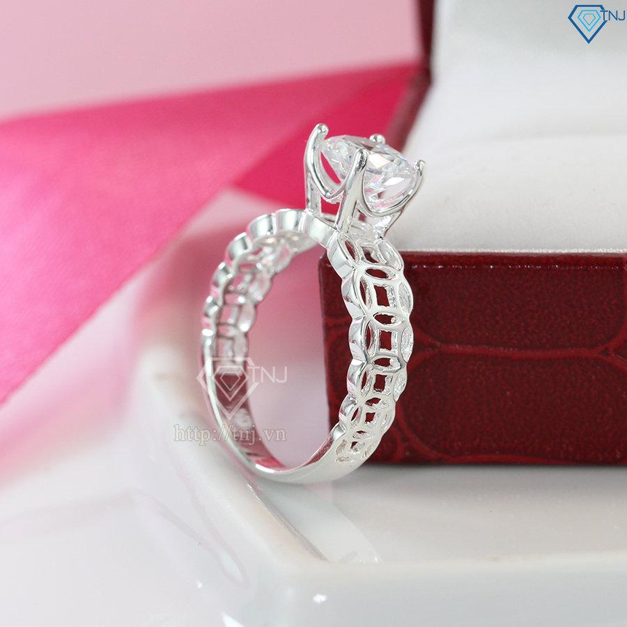 Nhẫn bạc nữ kim tiền đính đá đẹp NN0245