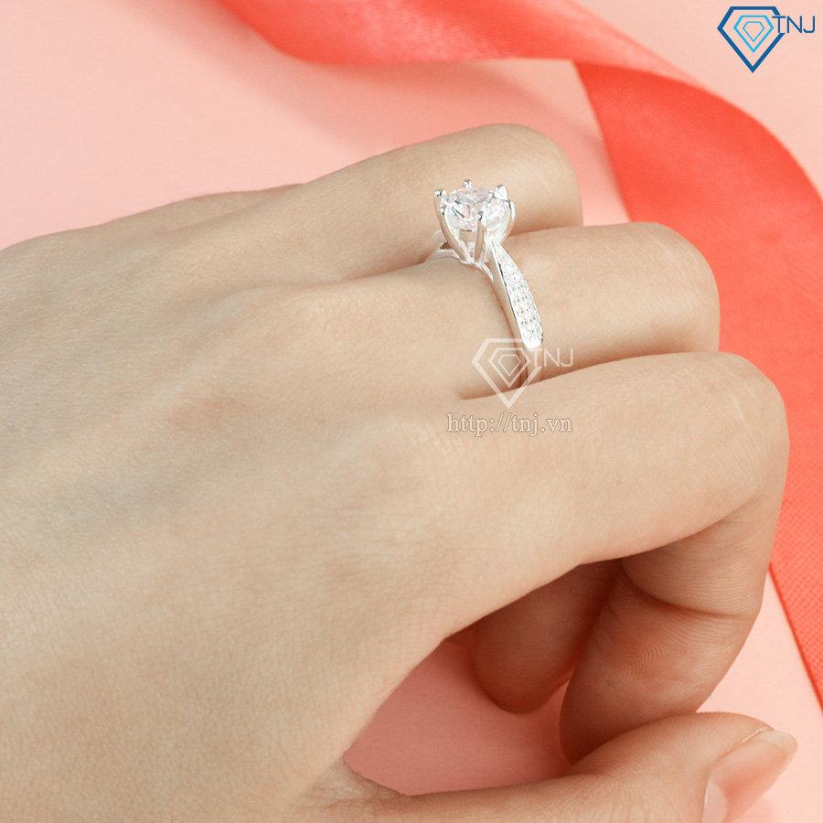Nhẫn bạc nữ đính đá đẹp NN0257