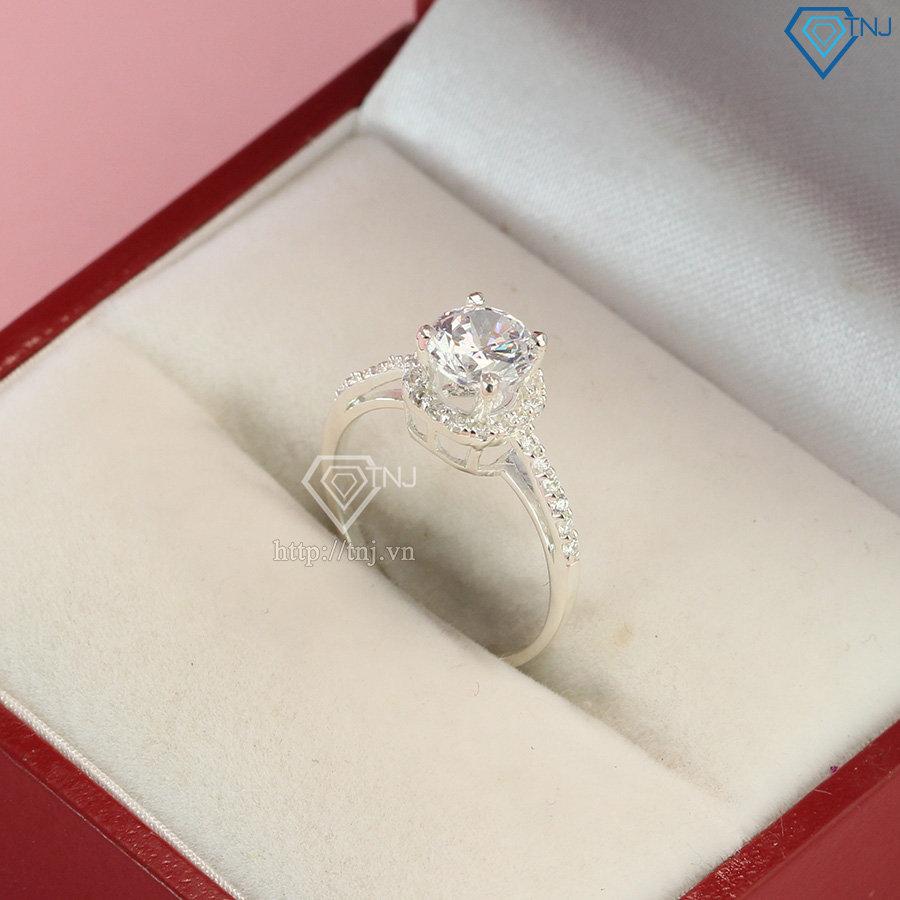 Nhẫn bạc nữ đẹp đính đá cao sang trọng NN0259