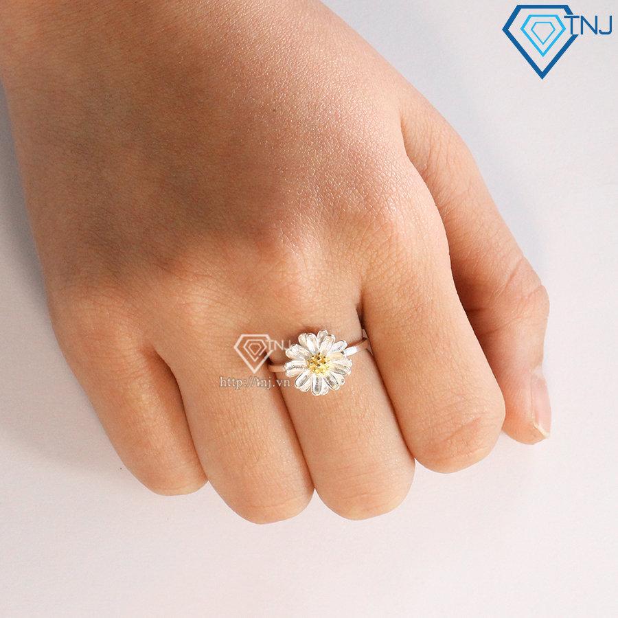 Nhẫn bạc nữ hoa cúc NN0267