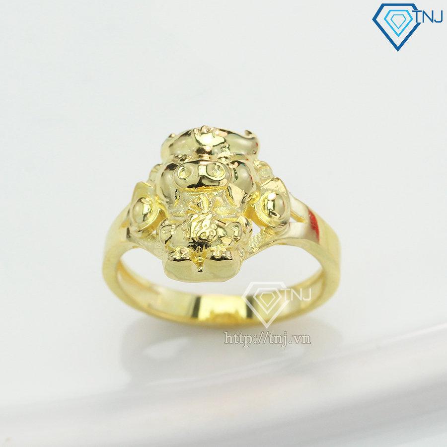 Nhẫn bạc nữ hình con trâu vàng NN0270