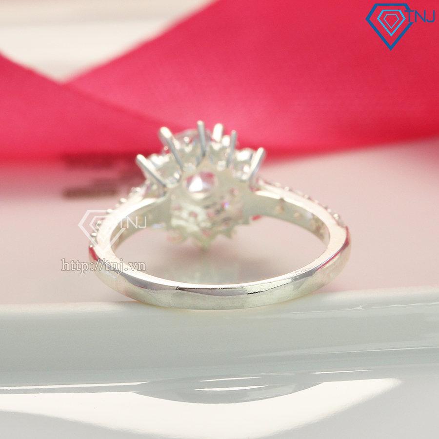 Nhẫn bạc nữ giá rẻ đính đá NN0274