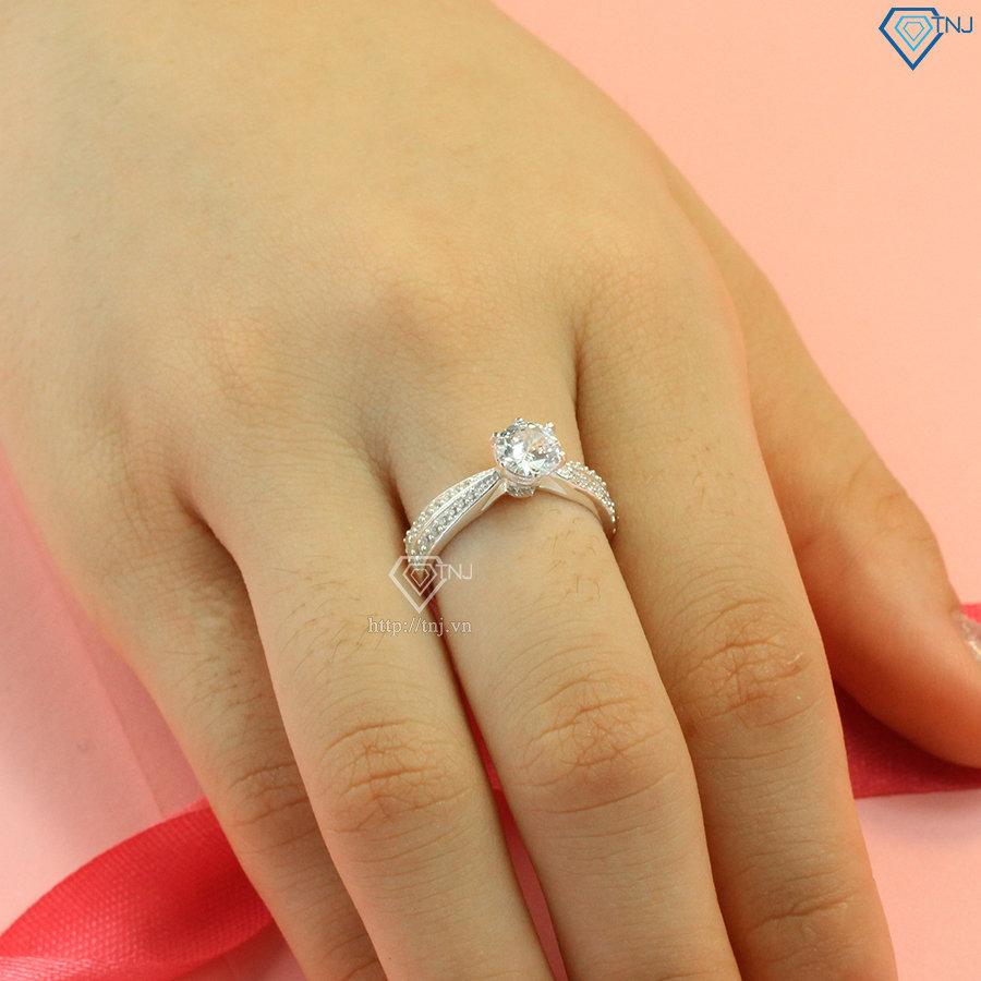 Nhẫn bạc khắc tên cho nữ cao cấp NN0286f