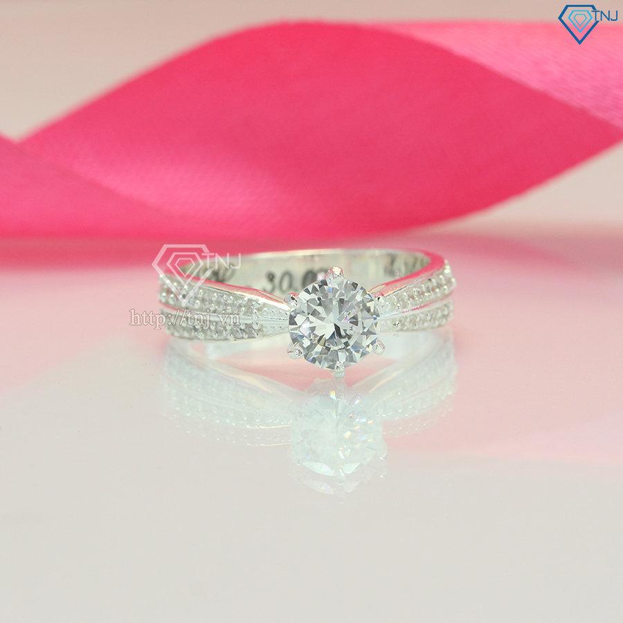 Nhẫn bạc khắc tên cho nữ cao cấp NN0286