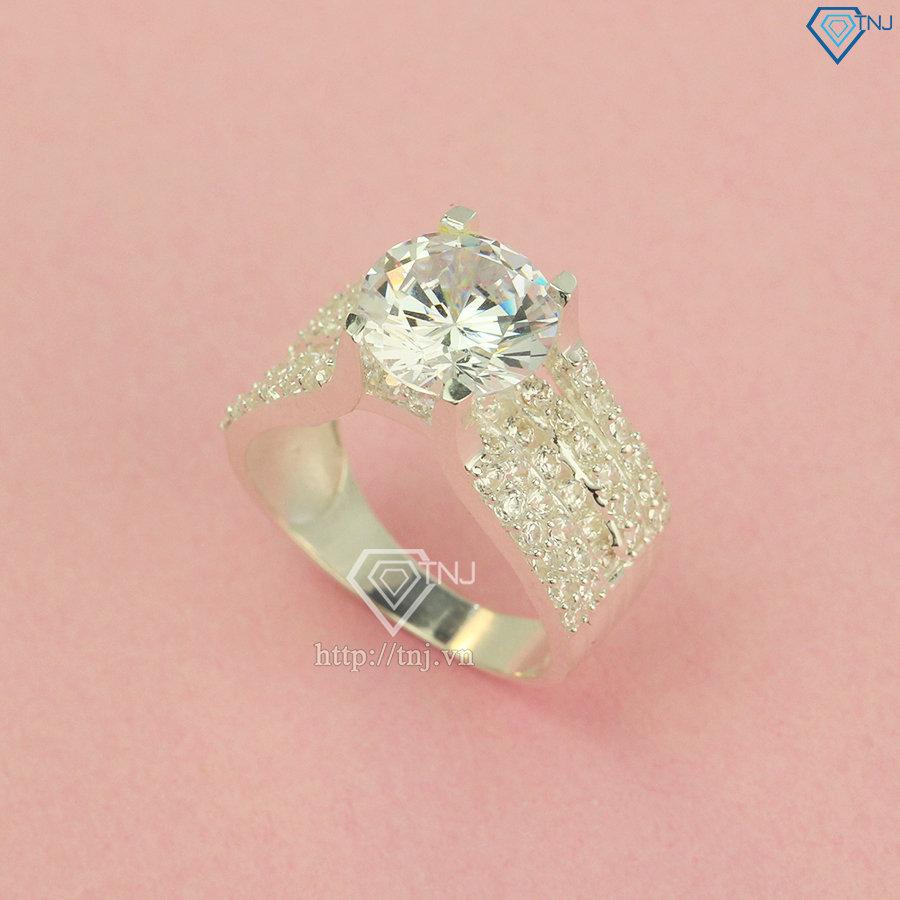 Nhẫn bạc nữ bản to NN0295