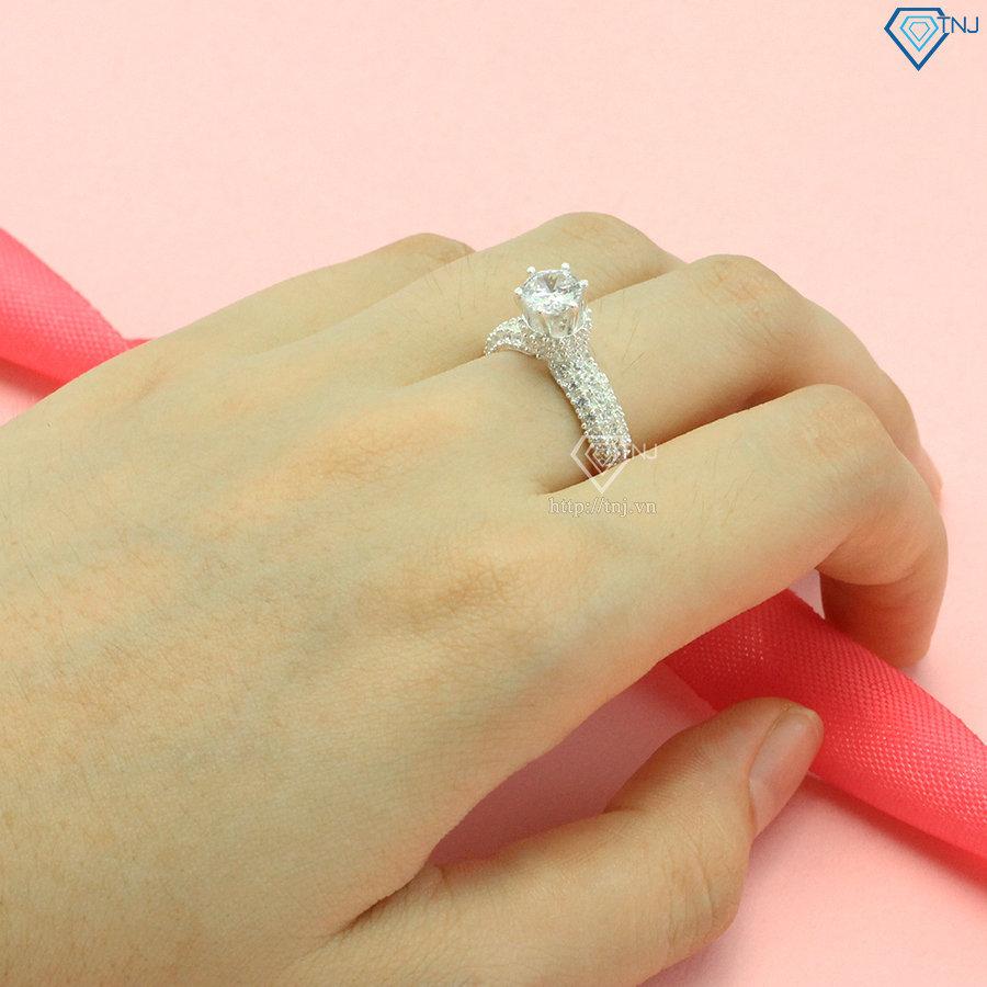 Nhẫn bạc nữ cầu hôn đẹp đính đá NN0304