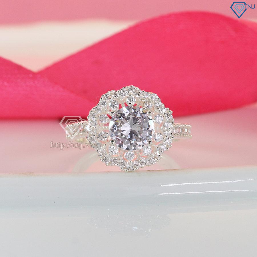 Nhẫn bạc nữ cá tính đính đá cao cấp NN0316