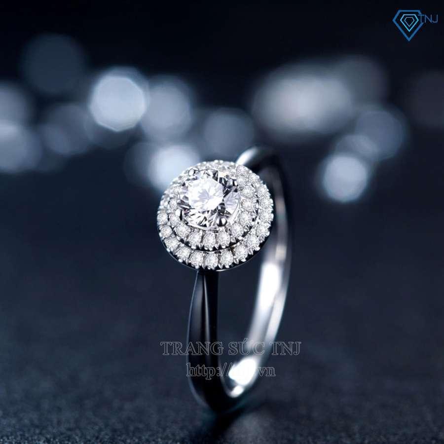 nhẫn nữ bạc đính đá cao cấp nn0134