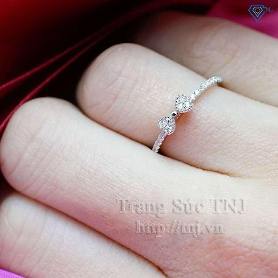 nhẫn nữ bạc đính đá cao cấp nn0135
