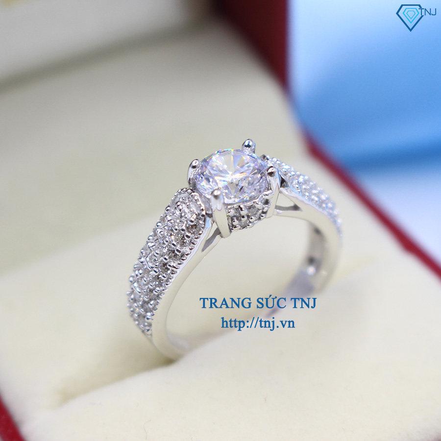 nhẫn bạc nữ đẹp đính đá cao cấp nn0169