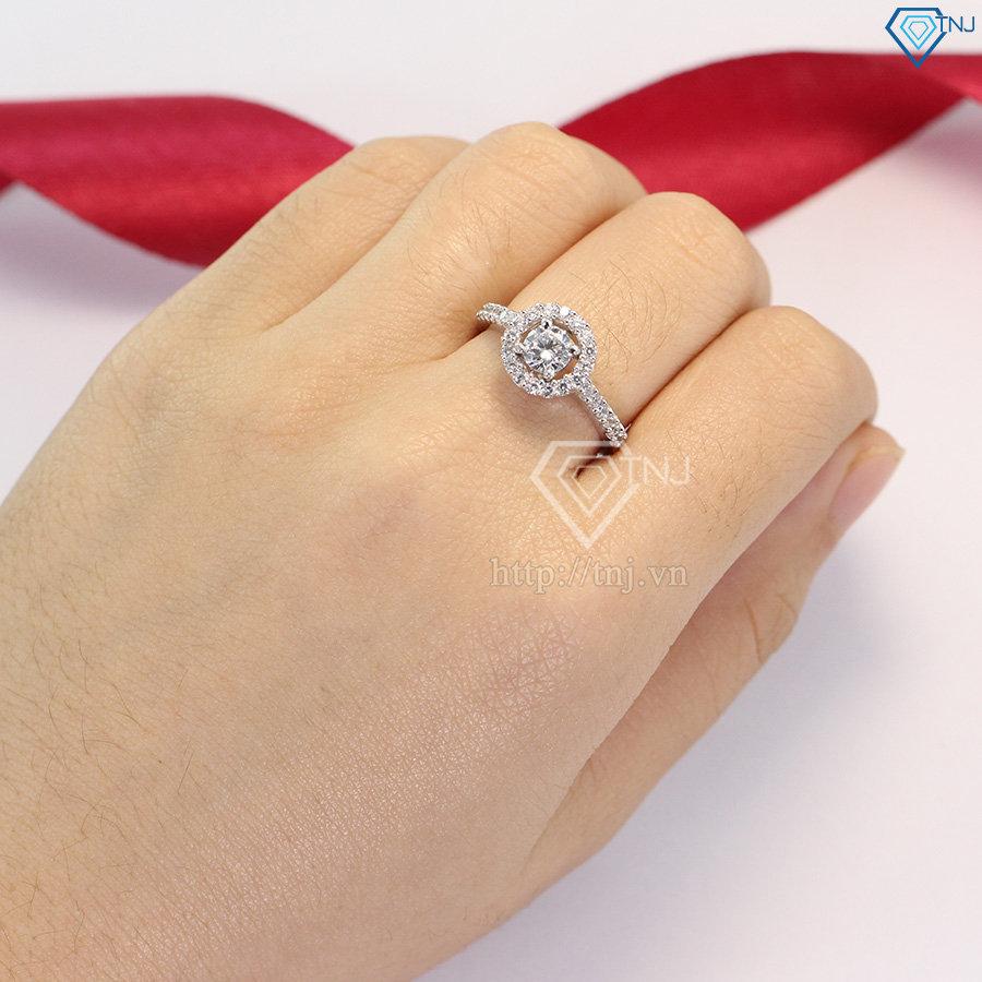 nhẫn bạc nữ đẹp đính đá cao cấp nn0171