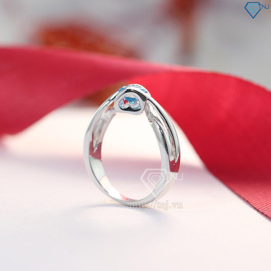 Nhẫn bạc nữ đẹp đính đá cao cấp NN0184