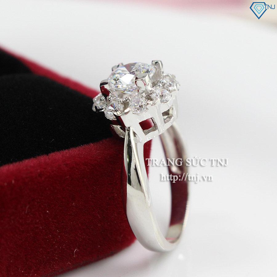 nhẫn bạc nữ đẹp đính đá  cao cấp NN0200