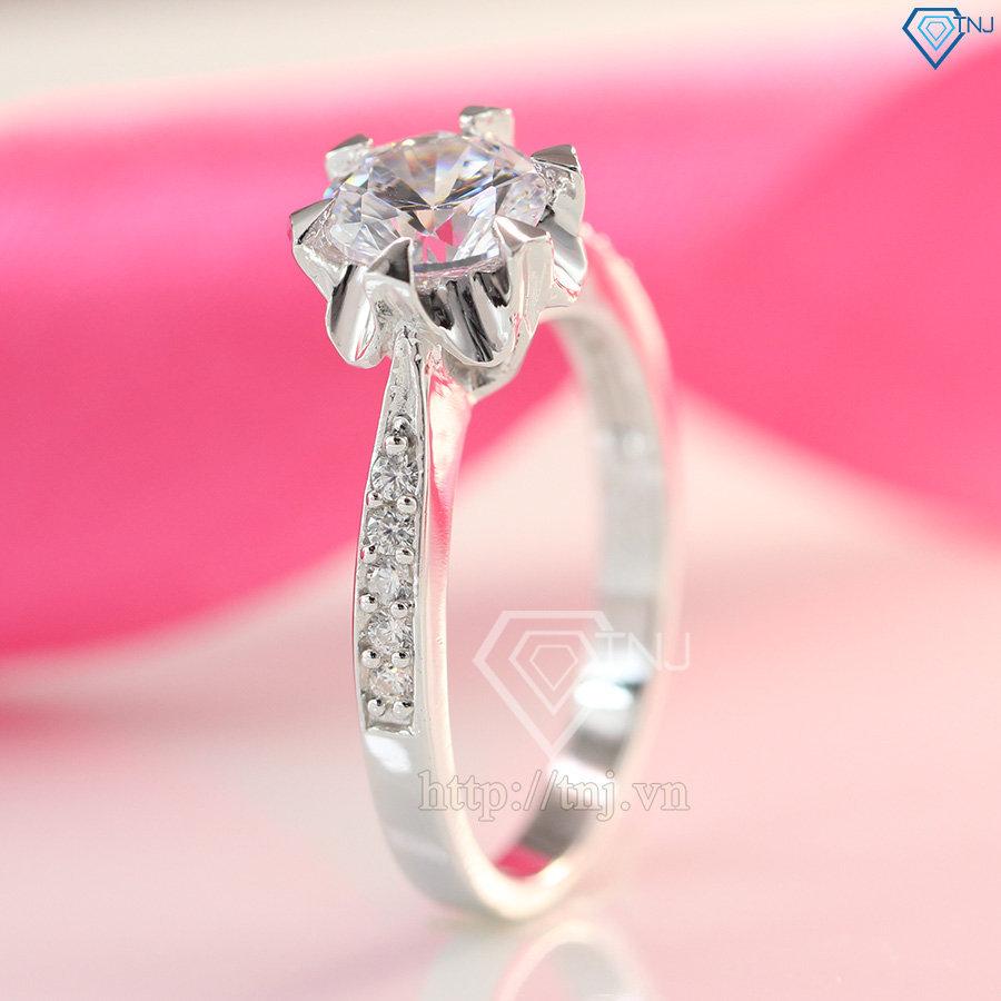 Nhẫn bạc nữ đẹp đính đá NN0201