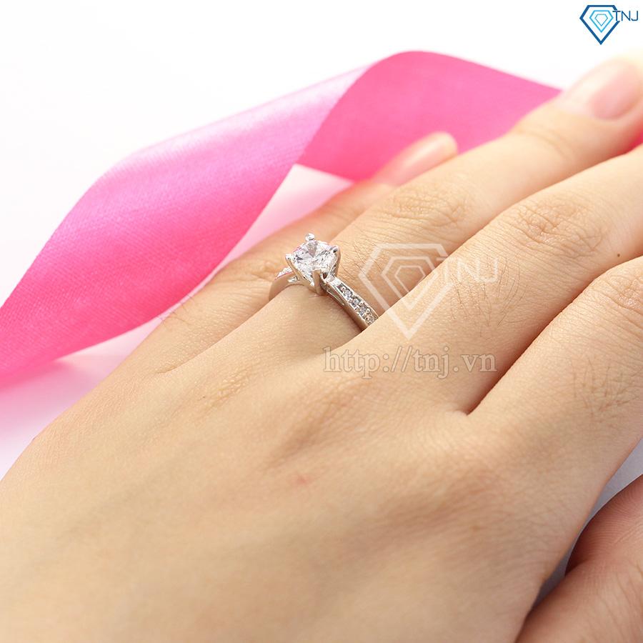 Nhẫn bạc nữ đẹp đính đá cao cấp NN0220