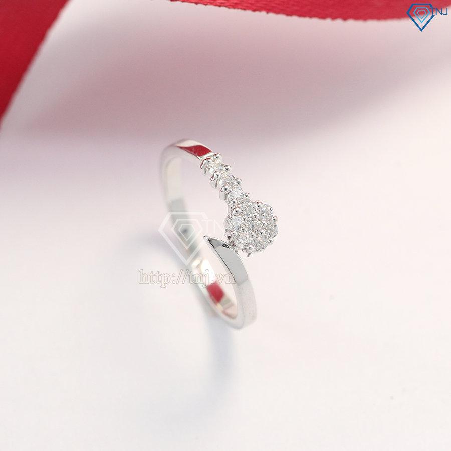 Nhẫn bạc nữ đẹp đính đá đơn giản NN0225