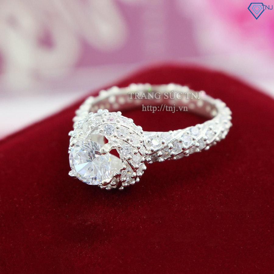 Nhẫn bạc nữ đẹp đính đá cao cấp nn0086