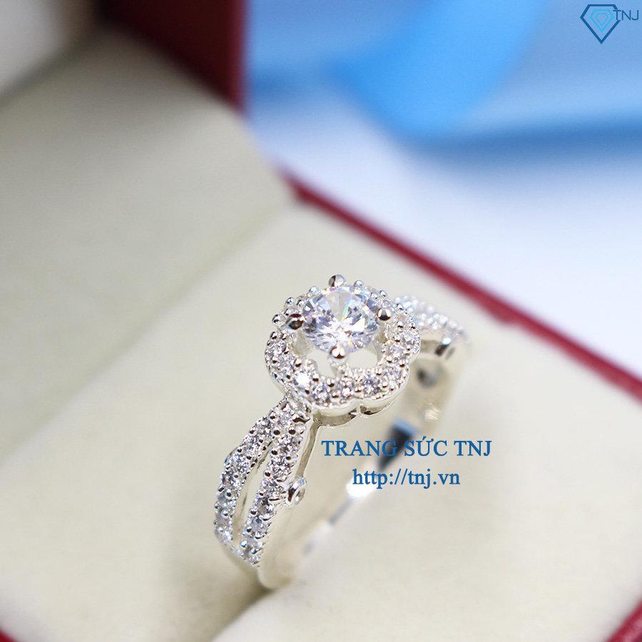 nhẫn bạc nữ đẹp đính đá cao cấp nn0170
