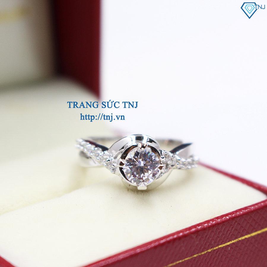 nhẫn bạc nữ đẹp đính đá cao cấp nn0172