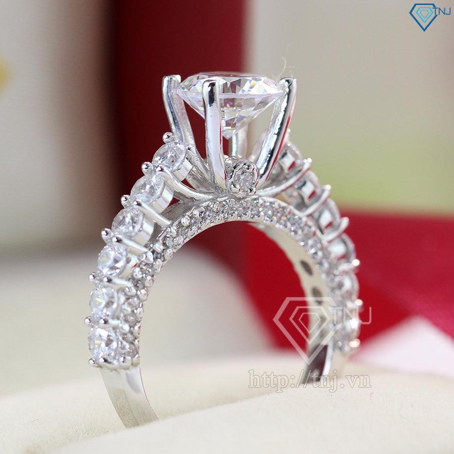 Nhẫn bạc nữ đẹp đính đá cao sang trọng NN0181