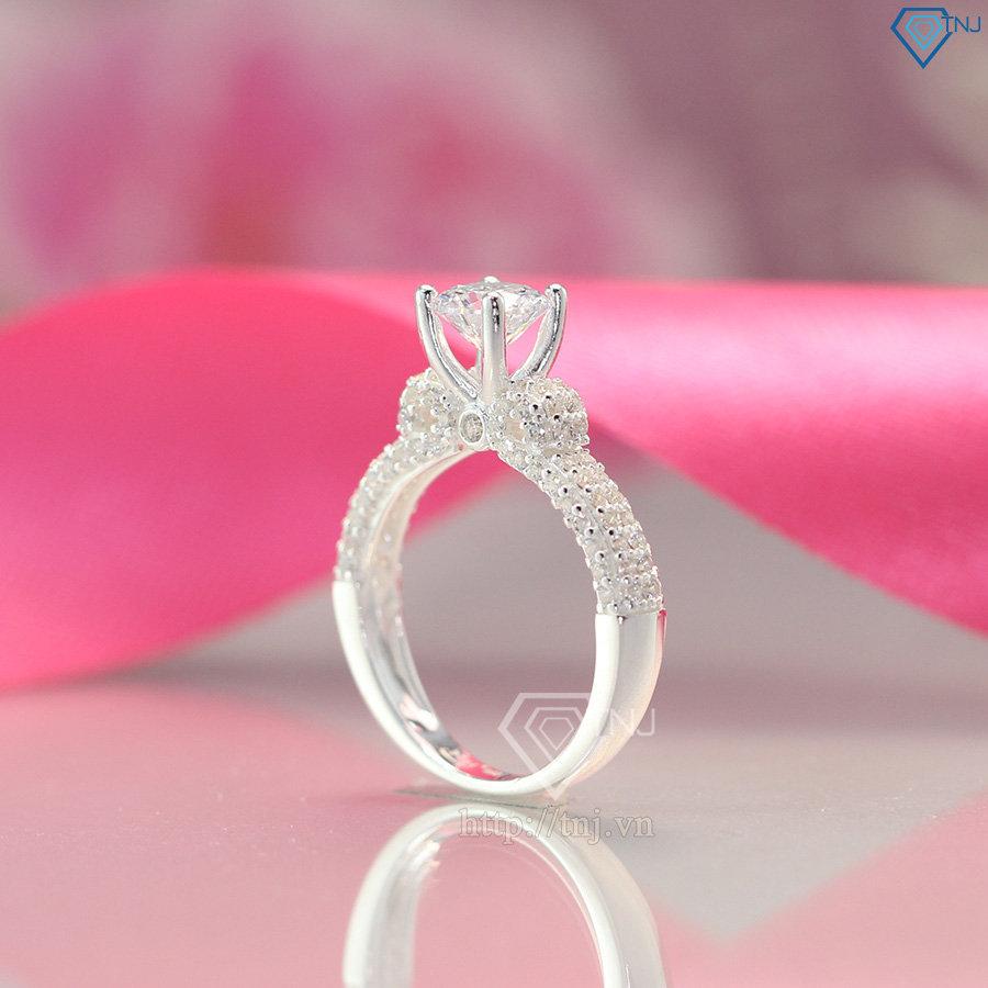 nhẫn bạc nữ đẹp đính đá cao cấp NN0229