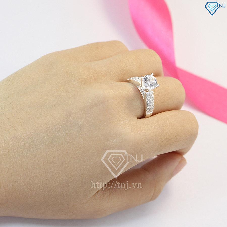 nhẫn nữ bạc đính đá cao cấp nn0231