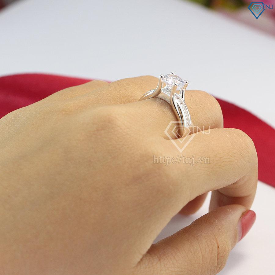 nhẫn nữ bạc đính đá cao cấp nn0232