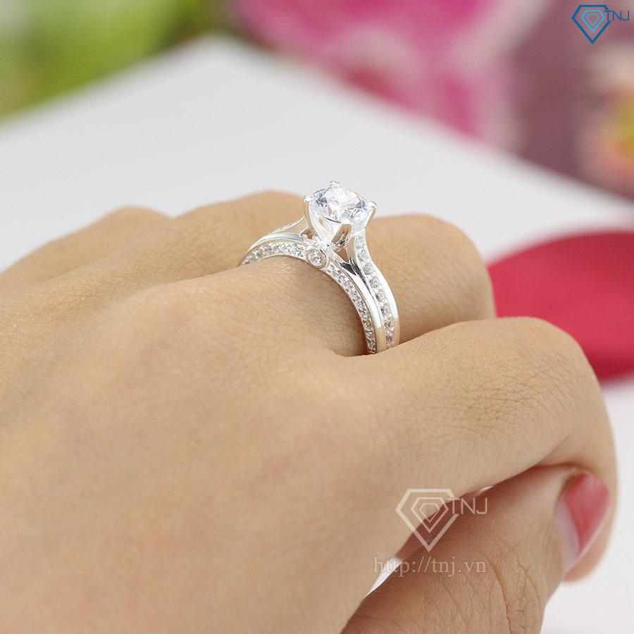 nhẫn nữ bạc đính đá cao cấp nn0236