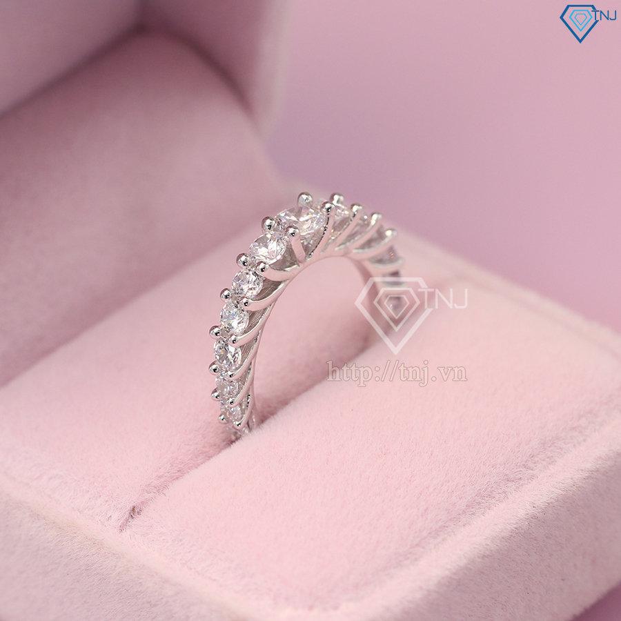 nhẫn nữ bạc đính đá cao cấp nn0237