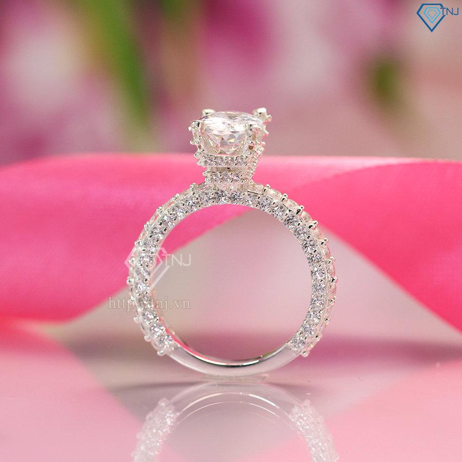 nhẫn nữ bạc đính đá cao cấp nn0238