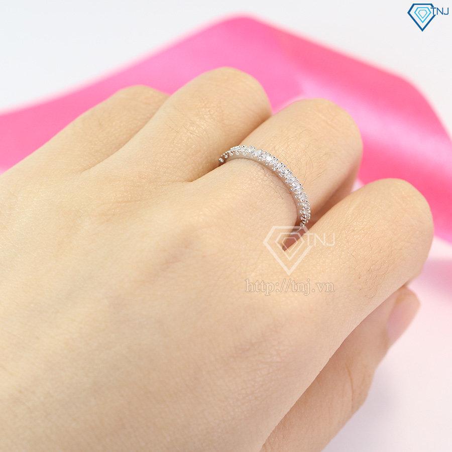 nhẫn bạc nữ đẹp giá rẻ đơn giản NN0185