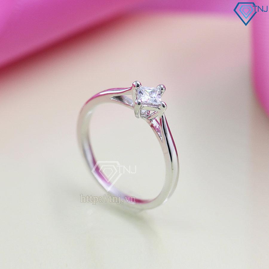 Nhẫn bạc nữ đẹp giá rẻ đính đá đơn giản NN0203