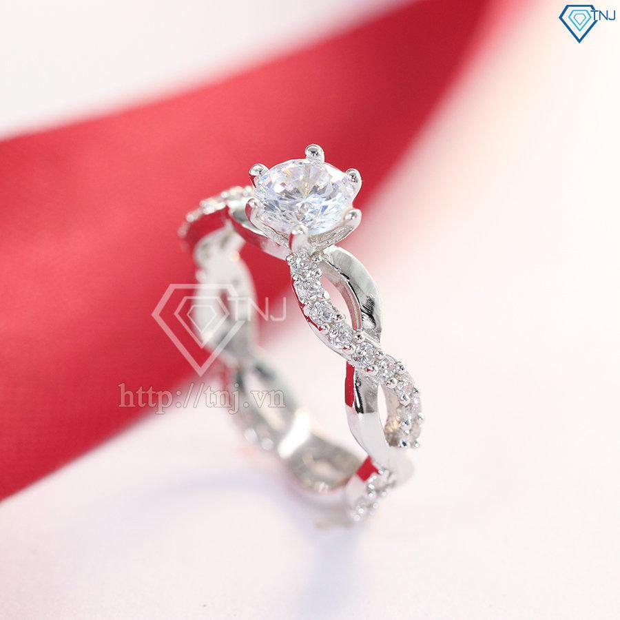 Nhẫn bạc nữ đẹp vô cực NN0195