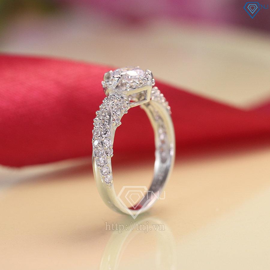 nhẫn nữ bạc đính đá cao cấp nn0234