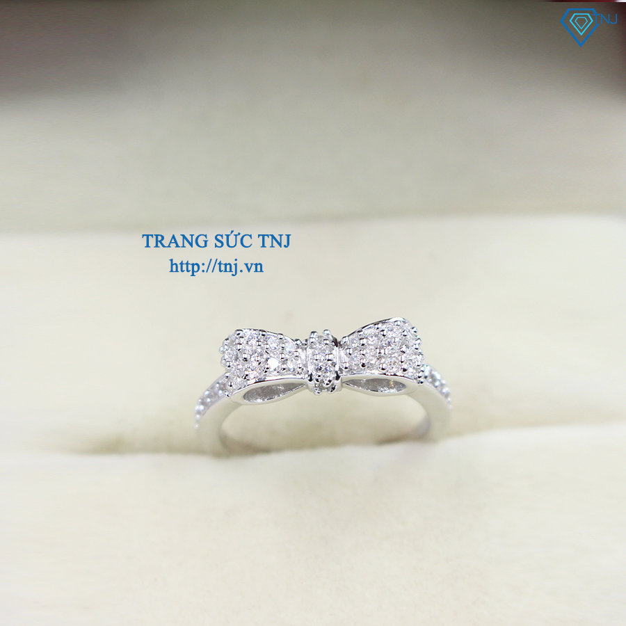 nhẫn bạc nữ hình chiếc nơ đẹp NN0179