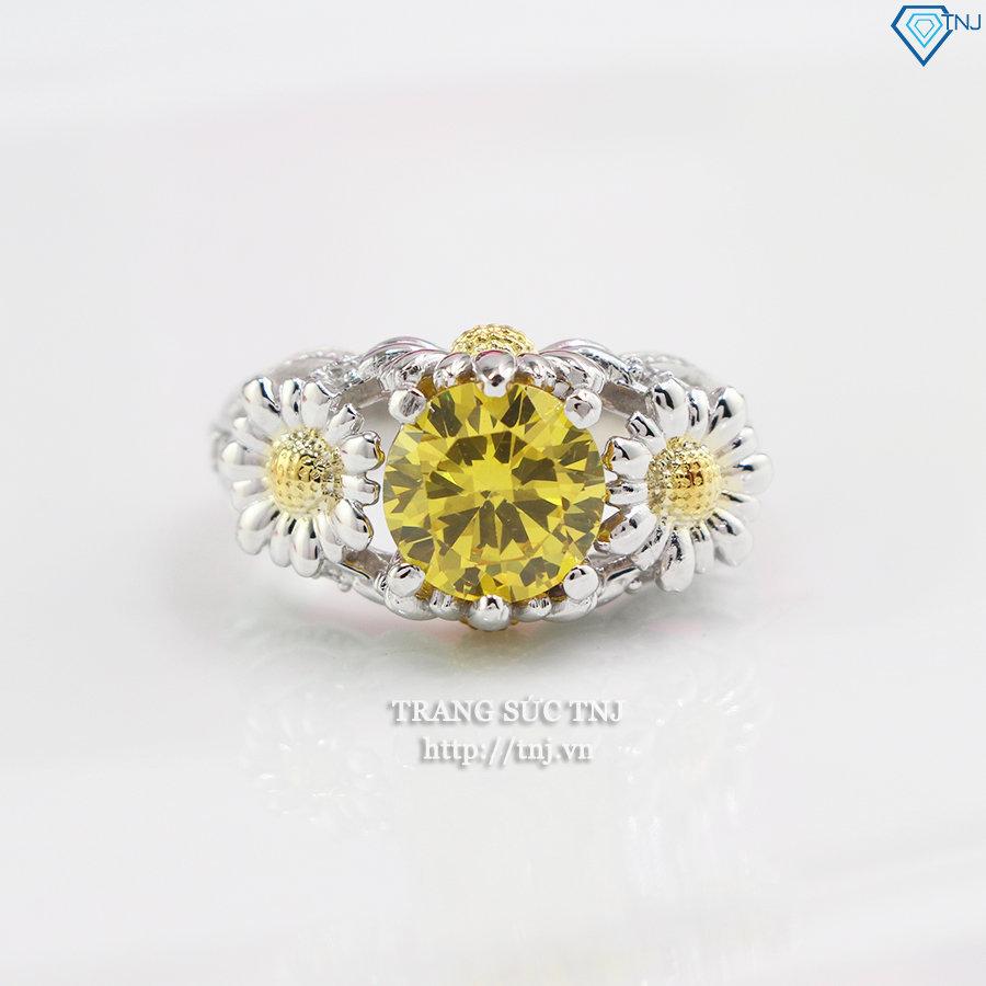 Nhẫn bạc nữ hình Hoa Hướng Dương đẹp NN0198