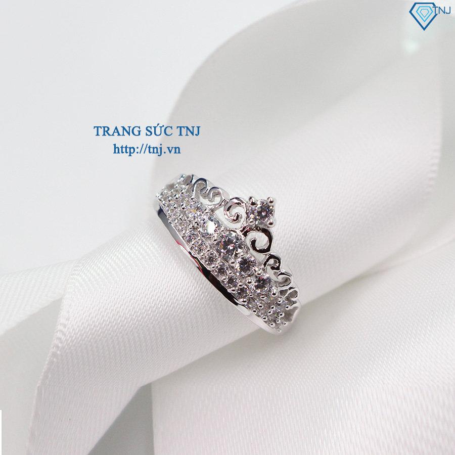 Nhẫn bạc nữ hình vương miện đẹp đính đá NN0177