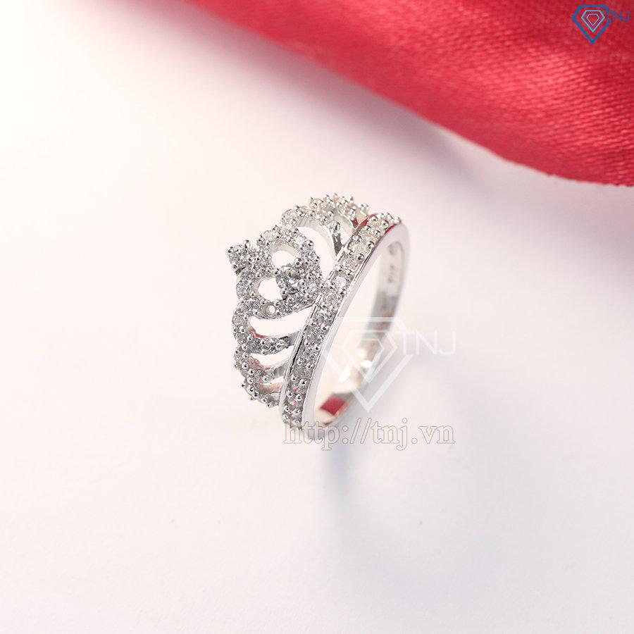 nhẫn bạc nữ vương miện đẹp NN0163