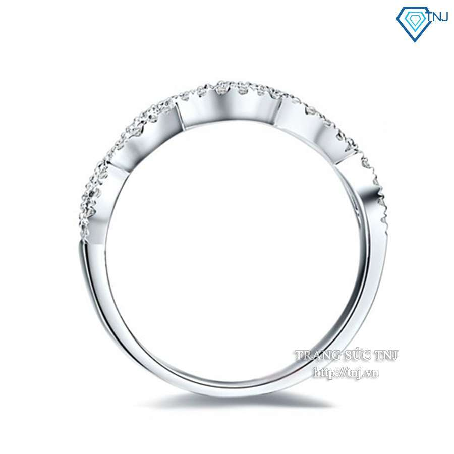 nhẫn nữ bạc đính đá đơn giản tinh tế nn0145