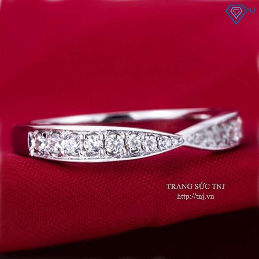 nhẫn nữ bạc đính đá đơn giản tinh tế nn0146