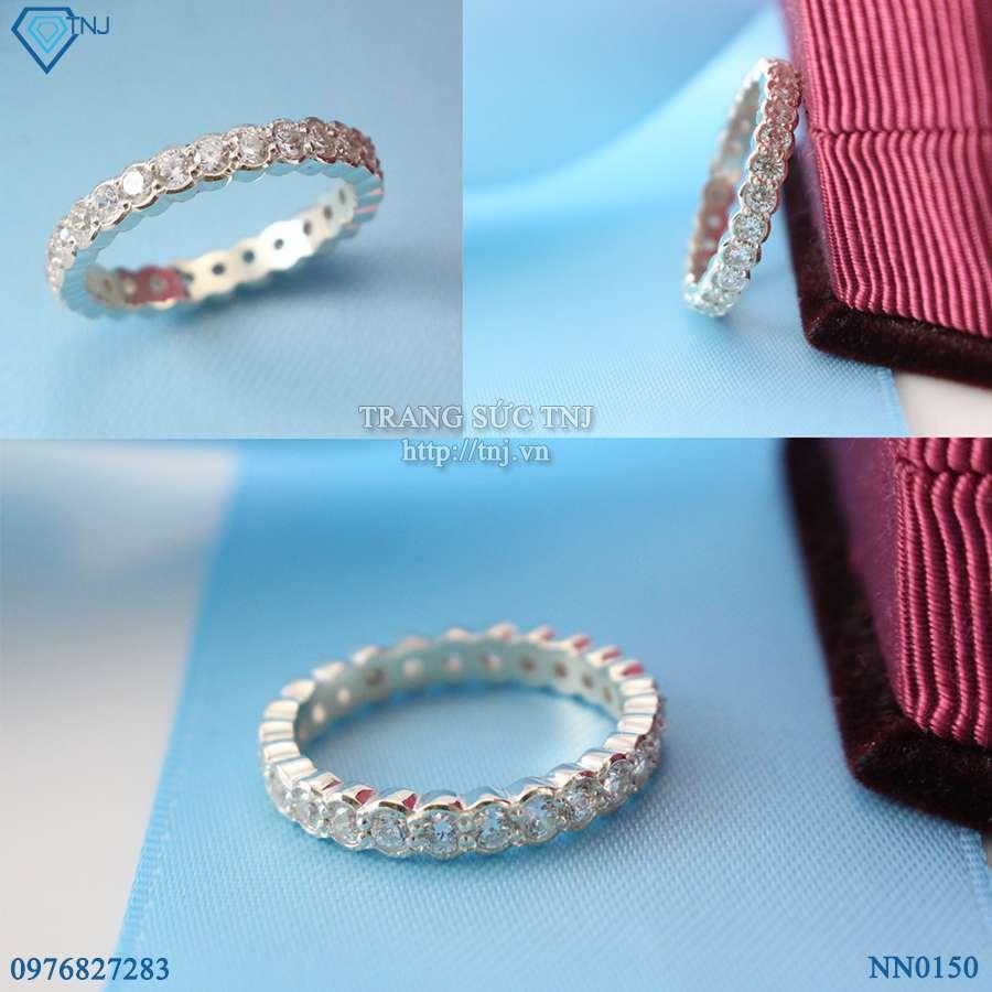 nhẫn nữ bạc đính đá cao cấp nn0150