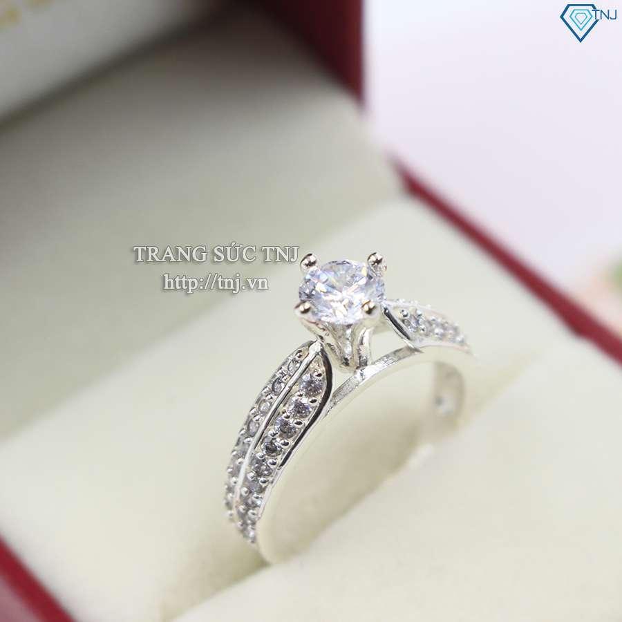 nhẫn nữ bạc đính đá cao cấp nn0165