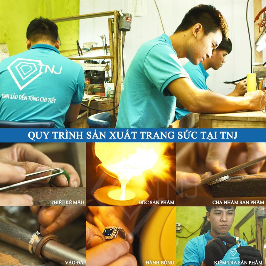 Quy trình thiết kế và sản xuất tại trang sức tnj